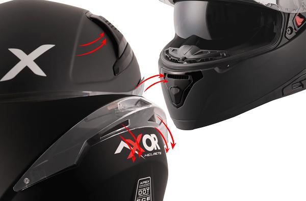Axor Apex helmet ventilations