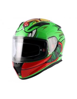 Axor Street Racing Duck Gloss Helmet-Green/Red