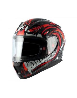 Axor Street Okami Matt Helmet-Black/Red