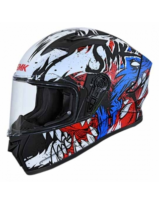 SMK Stellar Werewolf Gloss Helmet-Black/Blue