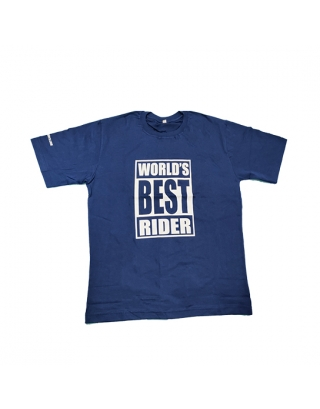 World Best Rider Tee Shirts-Blue