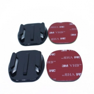 Base Mounts 2x Flat & 2x Curved Mounts for Action Camera