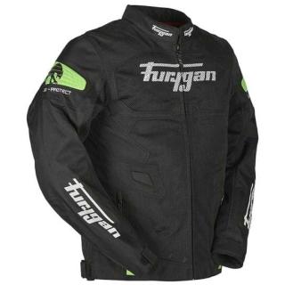 Furygan Atom Vented Riding Jacket-Black/Flu. Green