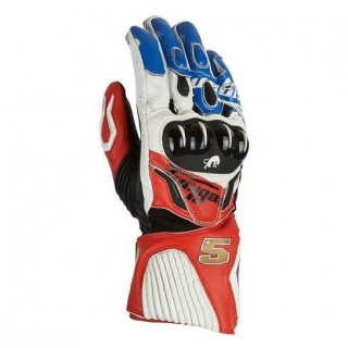 """Furygan """"Zarco Edition"""" FIT R2 Racing Gloves-White/Blue/red"""