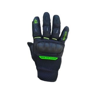 MotoTech Urbane Short Carbon Bike Riding Gloves-Black/Green