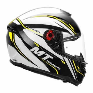 MT Hummer Cero Gloss Helmet-Flu-Yellow