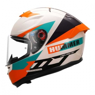MT Hummer QUO A0 Gloss Helmet-Pearl White