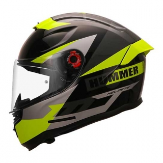 MT Hummer Quo Gloss Helmet-Flu-Green