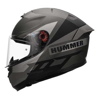 MT Hummer QUO Matt Titanium Helmet-Grey
