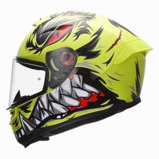 MT Hummer Lycan Gloss Helmet-Flu. Yellow