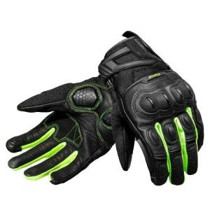 Raida AirWave Motorcycle Gloves-Black/Flu-Yellow