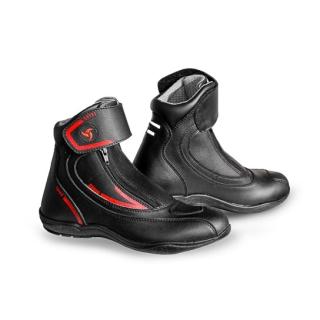 Raida Tourer Motorcycle Boots-Black/Red