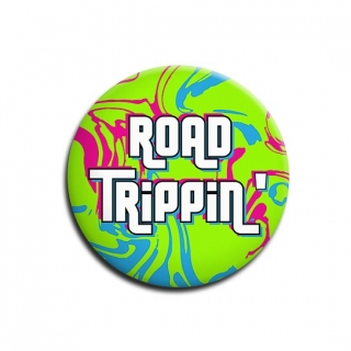 Road Trippin Green Badge for Bikers