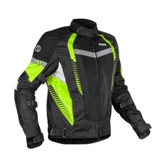 Rynox Tornado 4 Riding Jacket - Black/Flu. Green