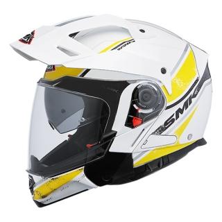 SMK Hybrid Evo Tide Helmet-White/ Flu. Yellow
