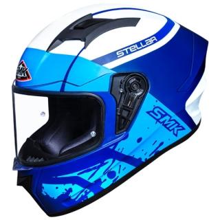 SMK Stellar Squad Helmet - Gloss-White/Blue
