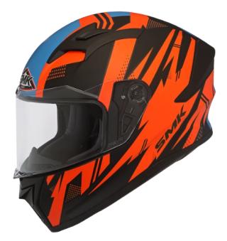 SMK Stellar Trek Gloss Helmet-Black/Orange