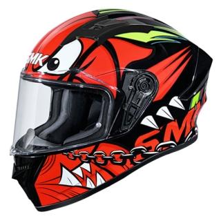 SMK Stellar Monster Matt Helmet-Black/Red