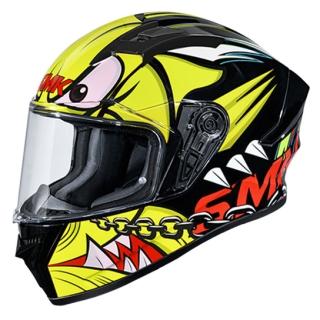 SMK Stellar Monster Gloss Helmet-Yellow/Black