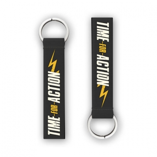 Time for Action Biker Key Chain